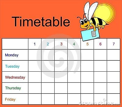time table template 3941