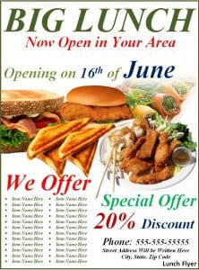 Lunch Flyer Template