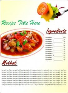 Recipe Poster Template