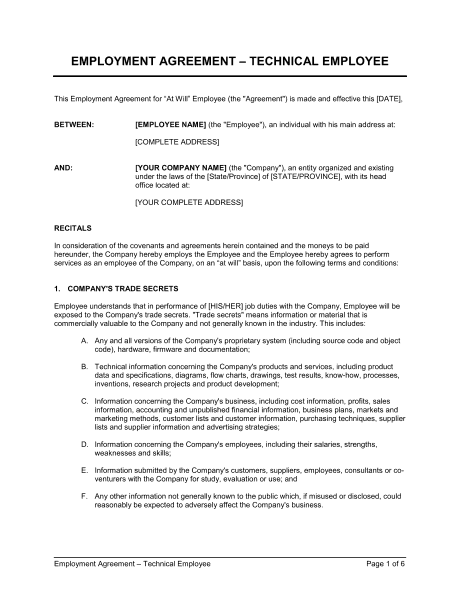 employment agreement 5974