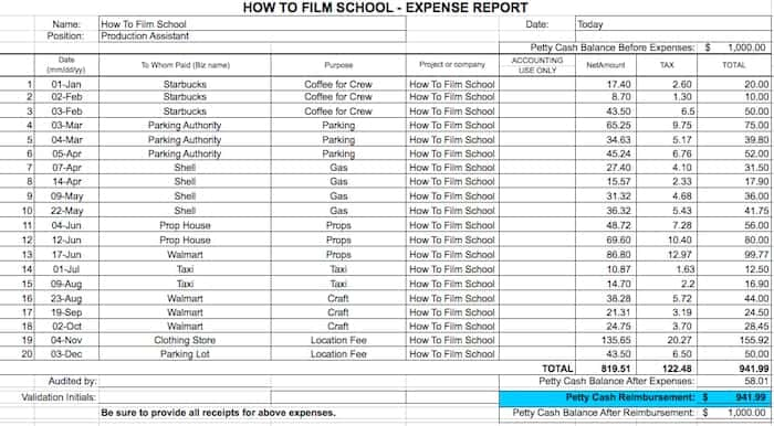 Expense Report template 3541