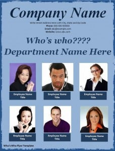 Who's Who Flyer Template