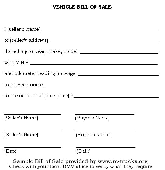 bill of sale template 1641