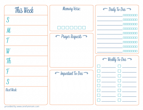 daily planner template 1324