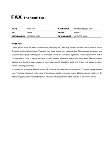 fax word template 347851