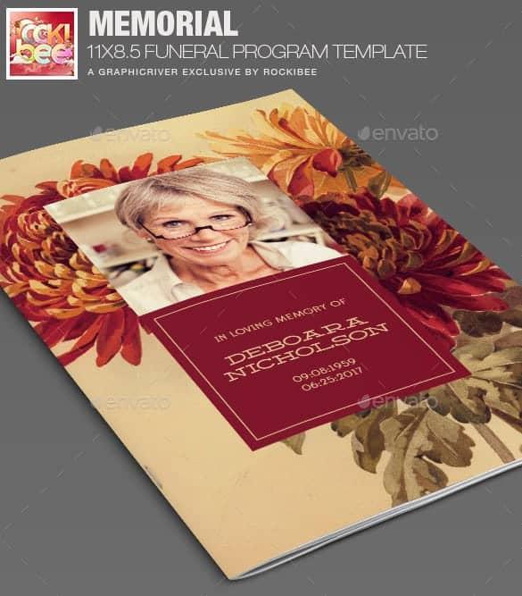 funeral program template 16941