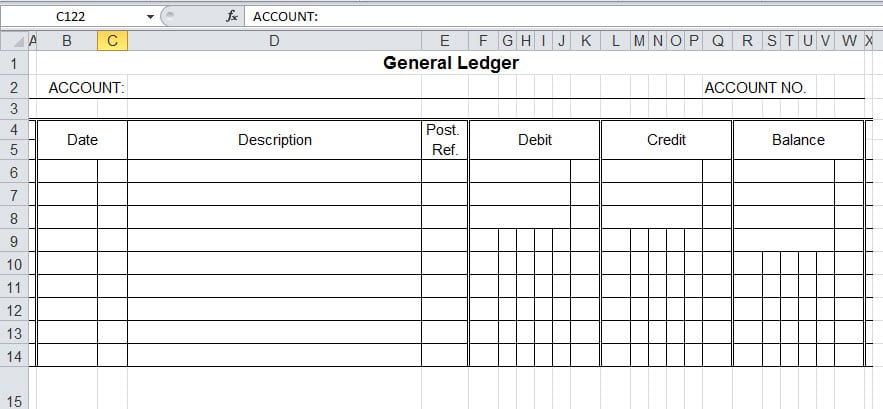 Top 5 Free General Ledger Templates - Word Templates, Excel Templates