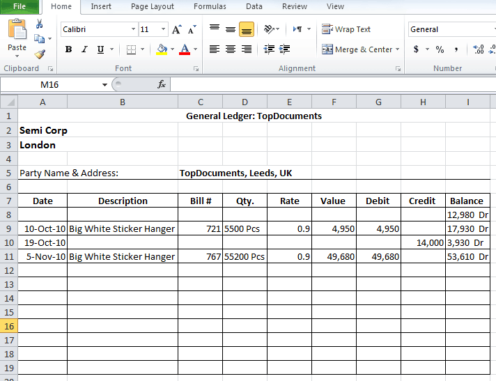 Top 5 Free General Ledger Templates Word Excel Templates