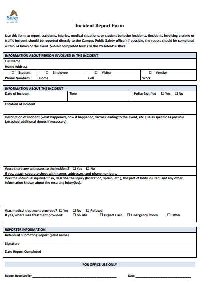 incident report template 4971