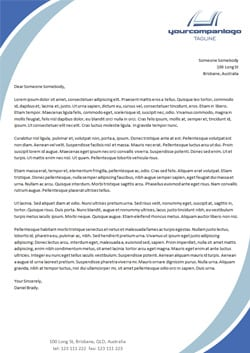 letterhead template 2694