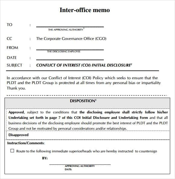 interoffice memo template 2451