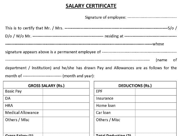 salary certificate template 285454