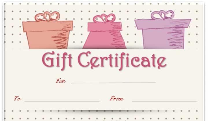 gift certificaet template 2454
