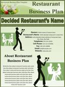 restaurant business plan template 3124