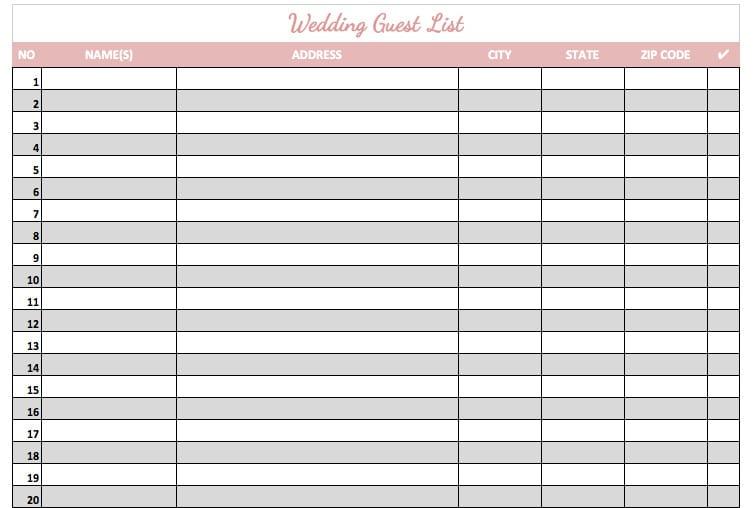 wedding guest list template 1324