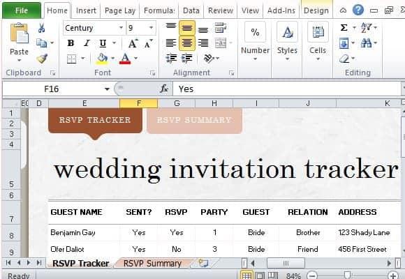wedding invitation list template 1245