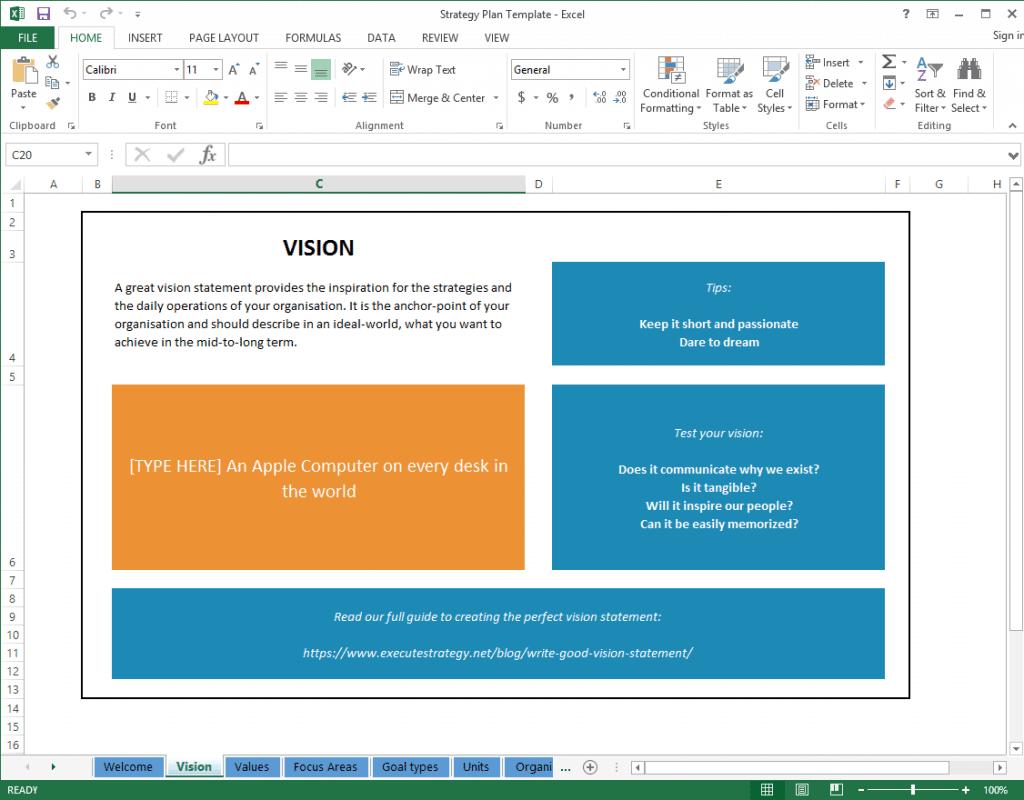 strategic plan template 2145
