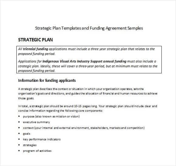 strategic plan template 45121
