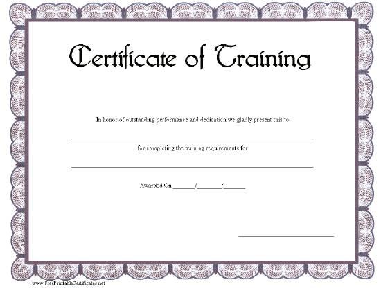 training certificate template 5541