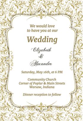 wedding invitation template 13245