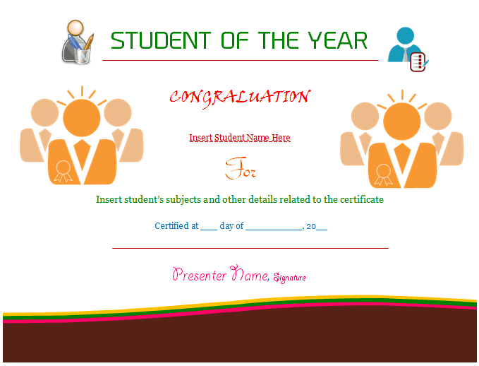 student of the year template 4251