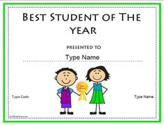 student of the year template 5124