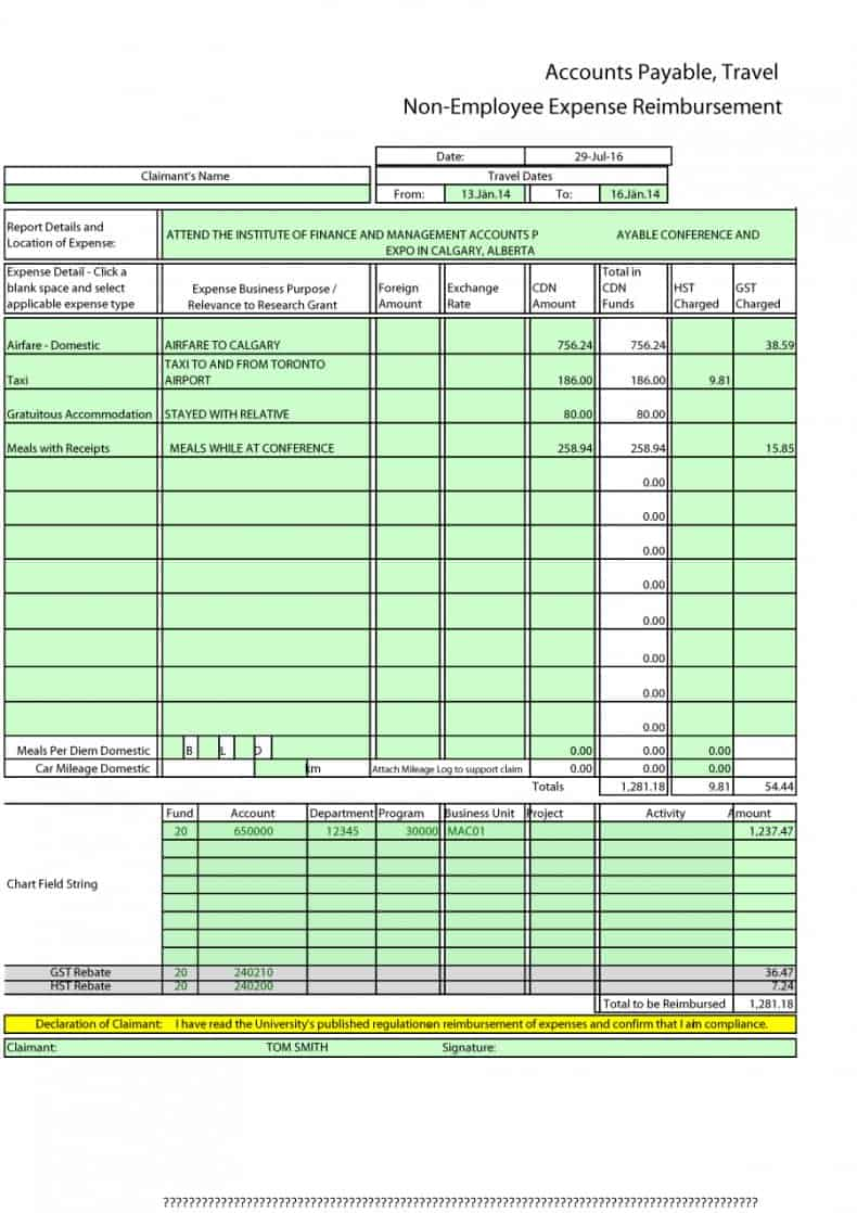 7 Free Expense Report Templates Word Excel Word Excel Templates