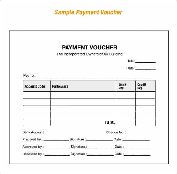 14 Free Payment Voucher Templates Word Excel Templates