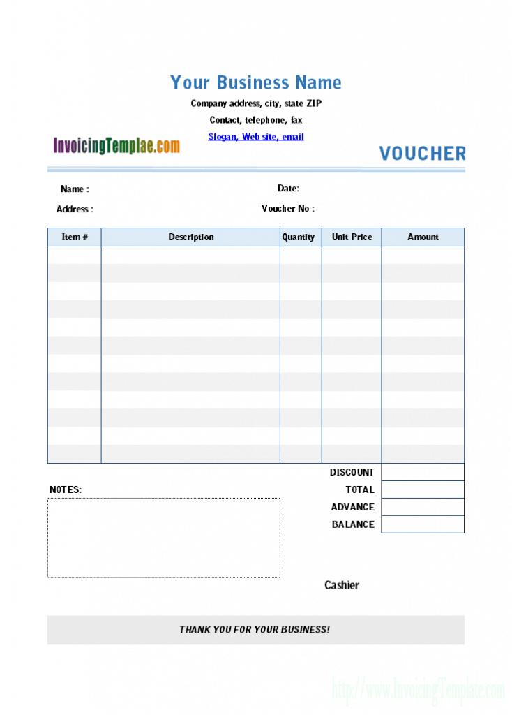 example payment voucher form