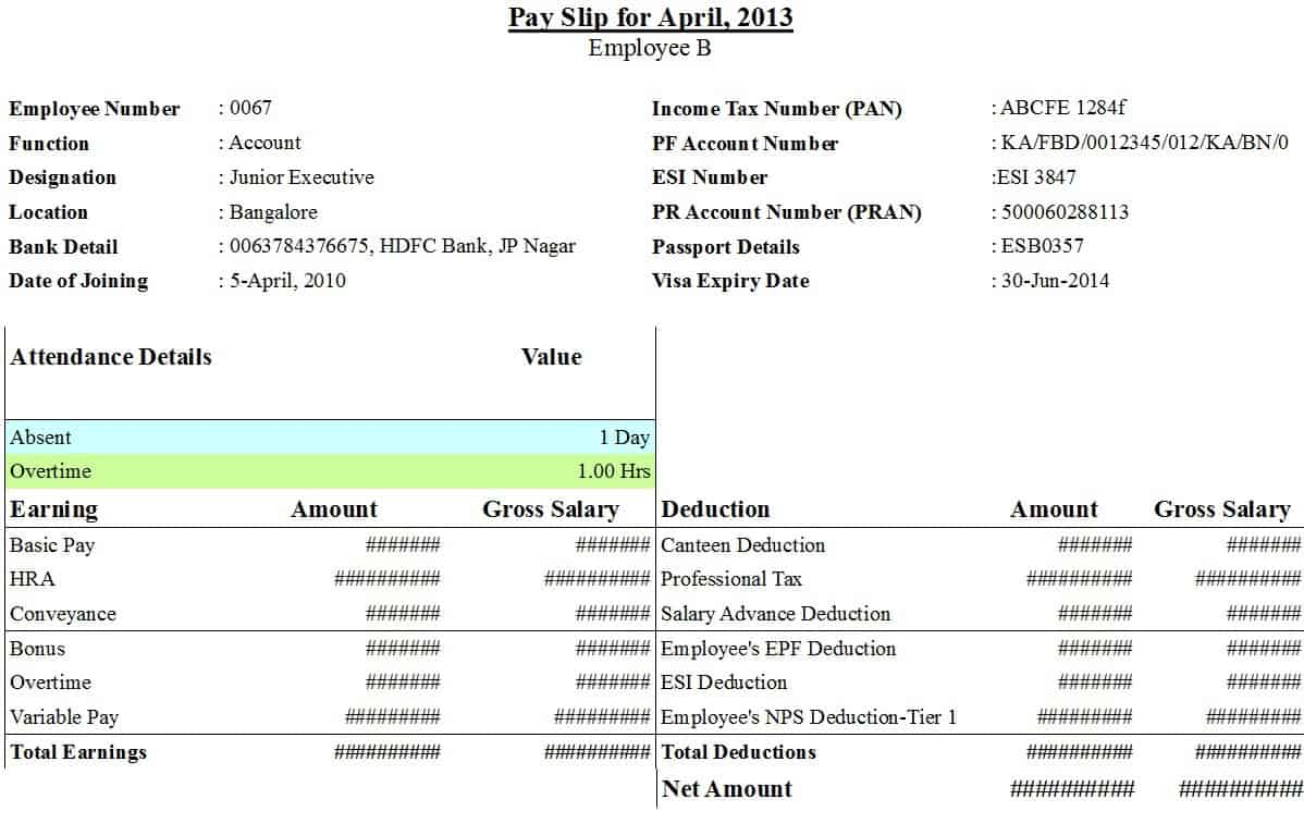 Top 14 Free Payslip Templates - Word Templates, Excel Templates