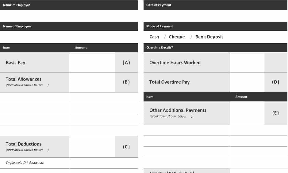 Top 20 Formats Of Salary Slip Templates - Word Templates