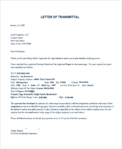 Transmittal Letter Sample Pdf from www.docspile.com